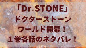 ドクターストーンワールド開幕!「Dr.STONE」1巻各話のネタバレ!